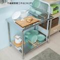 【JL精品工坊】不鏽鋼雙層工作台[3X2尺]限時$2280/流理台/層架/置物架/工作桌/電器架