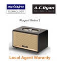 AC Ryan Playon! Retro 2 Classic 20 Watts Powerful Stereo Speaker High-end Acoustics, Support FM Radio, Bluetooth, Aux Input