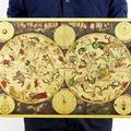 懷舊復古經典牛皮紙海報壁貼咖啡館裝飾畫仿舊掛畫-黃道12宮星座圖