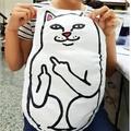 美麗大街【106081503】創意ripndip超萌小賤貓中指貓抱枕貓咪玩偶靠墊