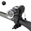 PCycling Bicycle Light 2000 Lumen USB Rechargeable Bike Front Light MTB Bike Light Zoom Flashlight Waterproof Built-in Battery