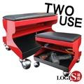 邏爵   鐵製兩用收納椅/工作椅/工具箱 TC100