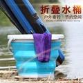 摺疊水桶戶外釣魚摺疊桶 打水桶 便攜活魚桶餌料盆戶外洗車「青木鋪子」