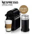 Inissia Coffee Machine (Black) & Aeroccino Milk Frother Bundle