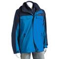 美國百分百【全新真品】Columbia 外套 夾克 連帽 哥倫比亞 登山 深藍色 兩件式 防水 男 M號 E674