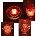 [菲麗雅精品屋]LED水晶燈座 琉璃水晶玻璃擺飾 店面藝品展示裝飾 佛燈神燈神明燈祖先燈
