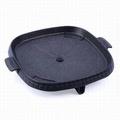 【J 方形燒烤盤-32*32cm-1套/組】鋁合金雙層構造 戶外家用 塗層燒烤鍋燒烤盤無煙烤肉盤烤肉鍋卡式爐燒烤盤-76007