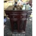 神桌 神明桌 公媽桌 祭祀桌 黑紫檀美喬式拱桌