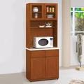 AS-愛娃樟木色2.7尺高餐櫃