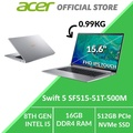 Acer Swift 5 SF515-51T-500M 15.6-Inch Intel i5 Thin and Light Laptop (Silver)