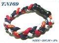 ☆ 滷蛋媽媽 ☆【 TN169 】日本TI-22三色液化鈦手圈 手鍊 三編運動項圈