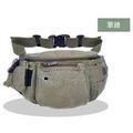 窩自在★大容量休閒運動腰包/防搶腰包-軍綠色