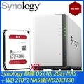Synology 群暉 DS218j 網路儲存伺服器 + WD 威騰(紅)2TB NAS碟 * 2