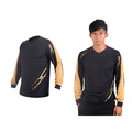 (男) MIZUNO 排球長袖T恤-運動T恤 美津濃 NXT系列 黑金