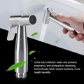 Handheld Stainless Steel Bidet Spray Douche Shattaf Holder Set +Toilet T-Adapter
