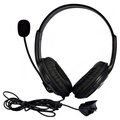 Black Headset Headphone Earphone Microphone for Microsoft Xbox 360 Live Game (Intl)