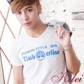 【Kilei】簡約繽紛英字棉T恤XA1443-03(清新白)賠售特價