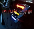 打方向燈變色~ l雙色款~雙色LED側面角燈~ed方向燈 小燈 超酷刀鋒造型 汽機車裝飾燈  一組2個