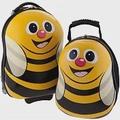 【英國Cuties and Pals】蛋型輕硬殼兒童專屬旅行箱+背包 2件組蜜蜂