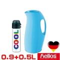 德國 helios 海利歐斯 保溫壺曲線粉藍900CC +德國 alfi  酷COOL不鏽鋼保溫瓶 白500CC