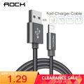 ROCK Cable for iPhone 100CM 180CM 300CM 20CM 2.1A Fast Charger Lighting USB Cables Charging Cord For iPhone 10 8 7 6 5 Plus iPad