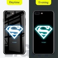 New Marvel Batman Ironman Luminous Phone Case for OPPO R9S Plus Glass Coque for OPPO R9S Plus Cases Cover