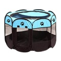 **สีฟ้า** กรงสุนัขพับได้ บ้านน้องหมา (ขนาด 95x95x58) บ้านสุนัข ที่นอนหมา กรงสุนัข คอกหมา กรงสุนัขใหญ่ บ้านสุนัขใหญ่ ที่นอนสุนัข xl