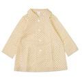 日本兒童雨衣簡單型前開扣雙口袋連帽雨衣(帽可拆)約105-110cm