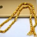 沙金項鍊男歐幣金飾品24K黃金色鍍金持久不掉色項鍊沙金首飾 韓語空間