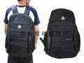 ~雪黛屋~SPYWALK 後背包大容量主袋內固定水瓶防水尼龍布+皮革可A4資料夾14吋電腦胸前釦+安全哨014S6136