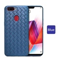 OPPO R15 Pro Classic Breathable cross leather pattern weaving case for OPPO R15 Pro soft Braided pattern cover casing