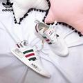 SLK★คู่รองเท้า Adidas NMD NAS Originals NMD สตรีสีขาววิ่งรองเท้ากลางแจ้ง