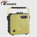 EMMAS 移動式藍芽喇叭/教學無線麥克風 (T-58)黃色