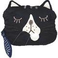 日系抱枕◇kusuguru shippo◇冷氣毯貓咪《黑色》