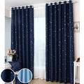 滿天亮星星打孔式遮光窗簾150x170cm