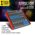 Original Xtuga ES602 USB Bluetooth Professional Stage Audio Mixer Built-in Digital Effect Mixer Music Mixer 7 Channel Mixer with LED display DJ Mixer