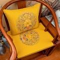 新中式沙發坐墊紅木椅子坐墊圈椅太師椅茶椅椅墊棉麻家用餐椅墊子