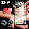 ZNP Curved Full Cover Tempered Glass For Samsung Galaxy S9 S8 Plus Note 8 S7 S6 Edge S8 S9 Screen Protector Tempered Glass Film