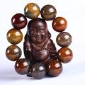天然茶龍鱗石龍紋石瑪瑙水晶手鏈佛珠正品龍紋瑪瑙男女款水晶