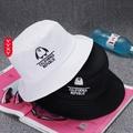 #卡美拉衣櫃#\n韓版簡約卡通漁夫帽防嗮帽子女春夏季遮陽帽子男平頂帽可折疊盆帽