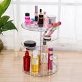 美娜甜心 精品時尚化妝品首飾360度旋轉收納架/透明旋轉化妝盒