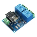 12V ESP8266 Dual WiFi Relay Module Internet Of Things Smart Home Mobile APP Remote Switch