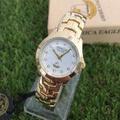 America Eagle นาฬิกาผู้หญิง สายก้างปลาหน้าขาวสายทอง