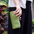 Zucchero Filato 簡約時尚  元氣日系珠扣式長夾綠色
