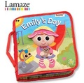*babygo*Lamaze拉梅茲嬰幼兒玩具-艾蜜莉的一天布書LC27903