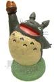 <宮崎駿會館>A 0102700052 龍貓TOTORO 豆豆龍 灰龍貓舉單手栗子花器 盆栽 花盆 擺飾