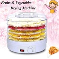 QNIGLO Healthy Food Dehydrator with Five Drying Racks for Fruit Vegetables