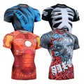 Geometric 3D Printing Compressed t-shirt Compressed 3D tshirt for Men Weightlifting Bodybuilding GYM