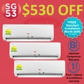 *$530 OFF SG53 PROMO* EuropAce System 3 AirCon with Air Pure Filter-2 TICKS - FREE STANDARD INSTALLATION WORTH $690