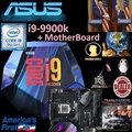 Intel core i9-9900K 16M Cache up to 5Ghz + Bundle Together ASUS Gaming MotherBoard.., Type of Mobo Bundle price shown below...,